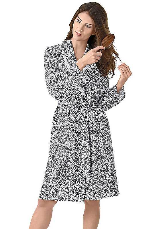 Leopard Print Dressing Gown