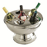 Deluxe Stainless Steel 6 Bottle Wine Cooler & Punch Bowl
