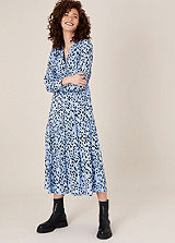 Oli Plaited Strap Paisley Maxi Dress