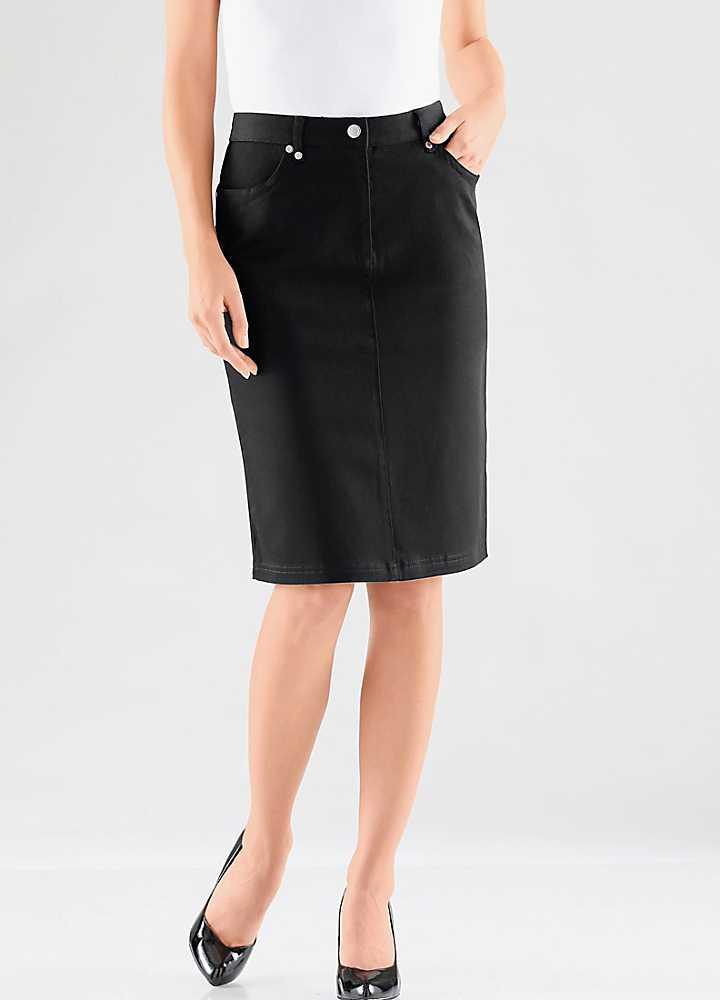 creation l knee length cotton skirt kaleidoscope