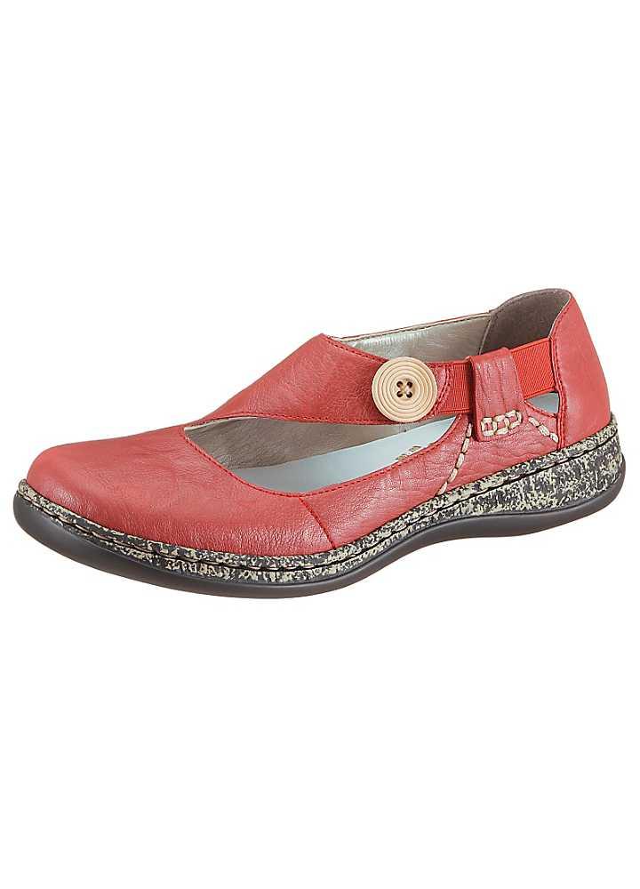 rieker comfortable slip on leather shoes kaleidoscope